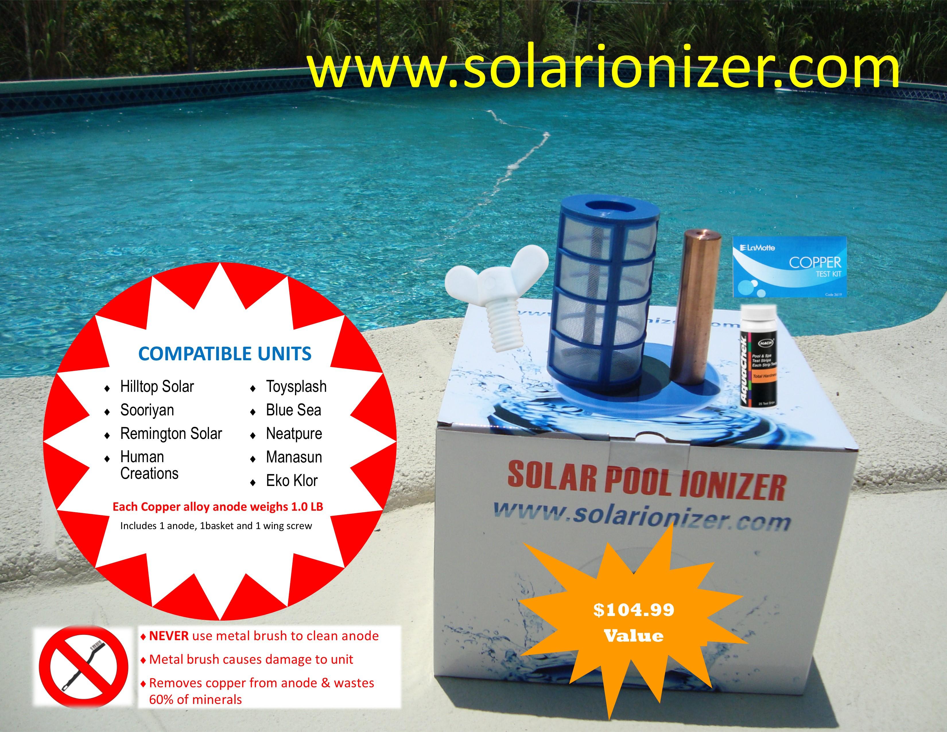 Hilltop Solar 1 Anode Amp Basket Kit 1absch